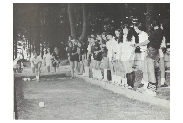 Bocce Ball - Blue & White Competition 1973